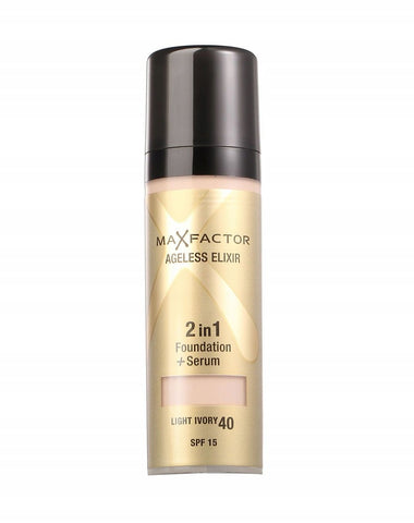 Max Factor Ageless Elixir 2 in 1 Foundation 40 LIGHT IVORY - ABALB beauty