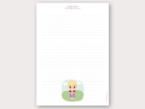 A4 Personalised Letter Head - Angie