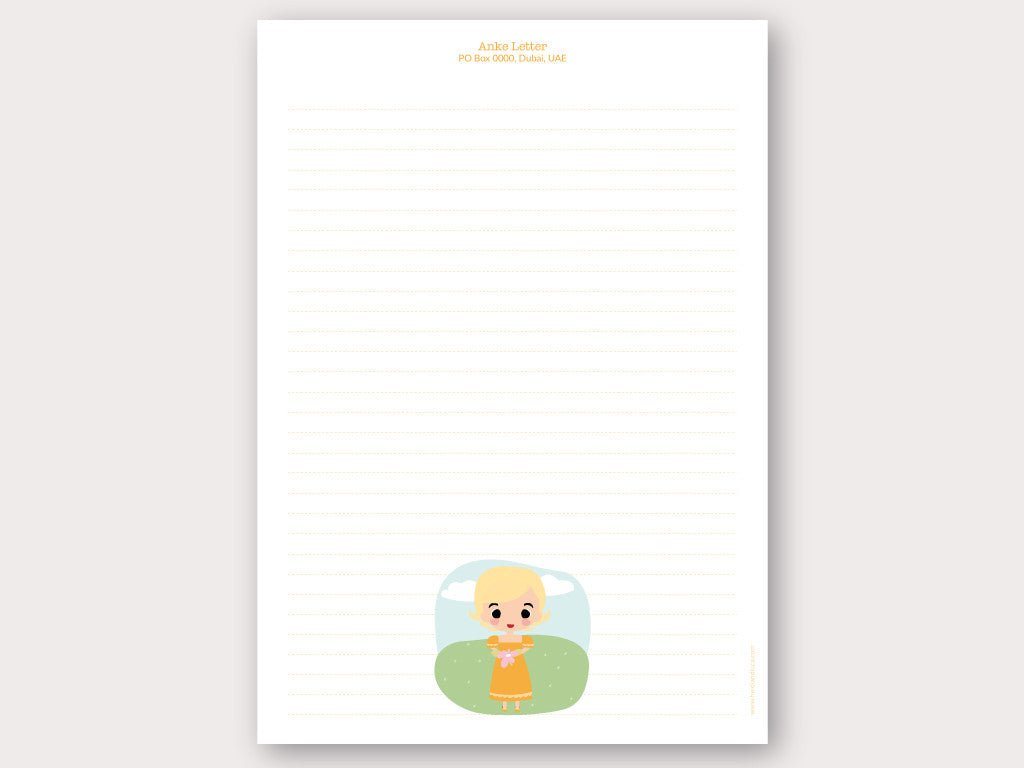A4 Personalised Letter Head - Anke