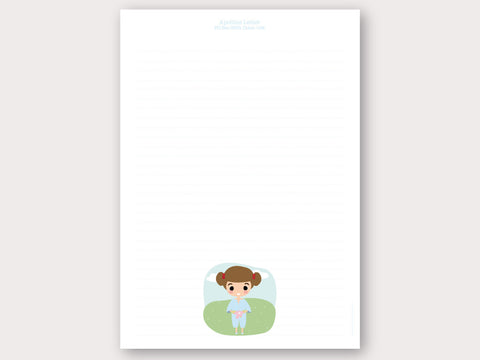 A4 Personalised Letter Head - Apolline