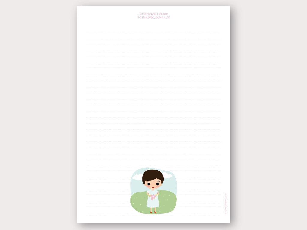 A4 Personalised Letter Head - Charlotte