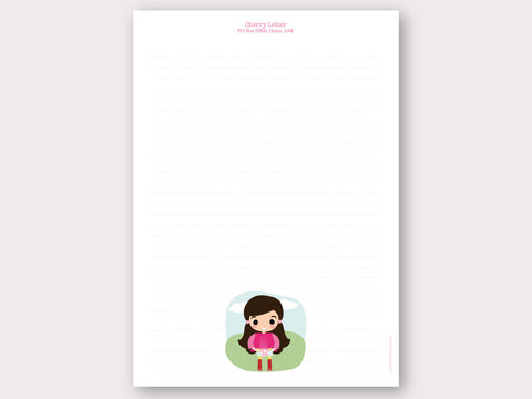 A4 Personalised Letter Head - Cherry