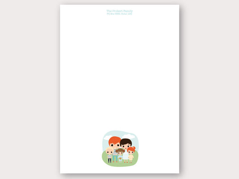 A4 Personalised Letter Head - Family of 5
