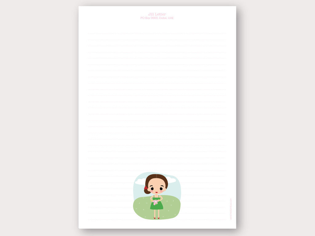 A4 Personalised Letter Head - Jill