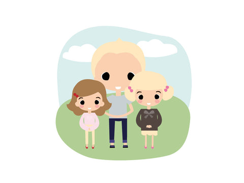 A4 Personalised Letter Head - The 3 Kids