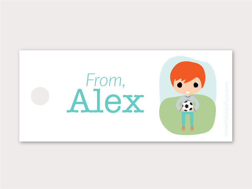 Petite Gift Tag Pack of 24 - Alex