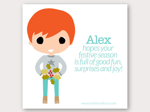 Christmas Greeting Card - Alex
