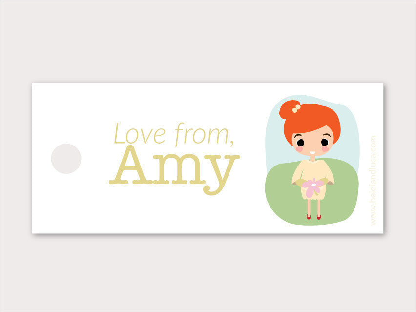 Petite Gift Tag - Amy
