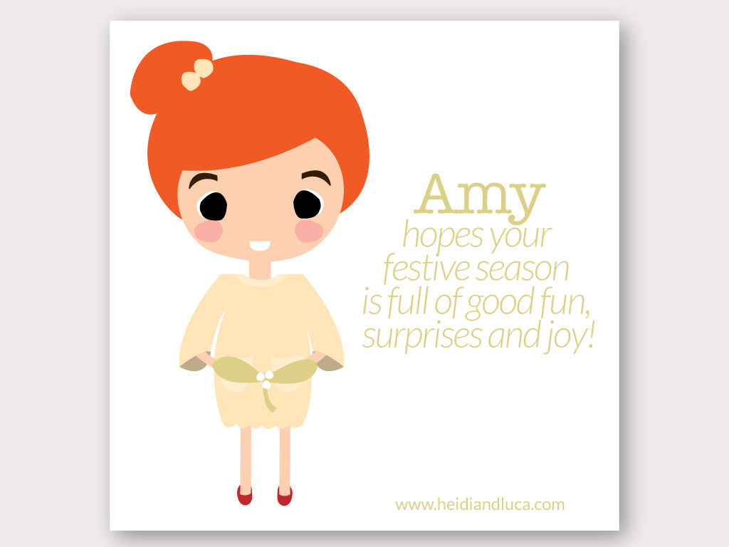 Christmas Greeting Card - Amy