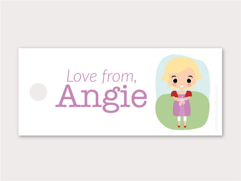 Petite Gift Tag - Angie