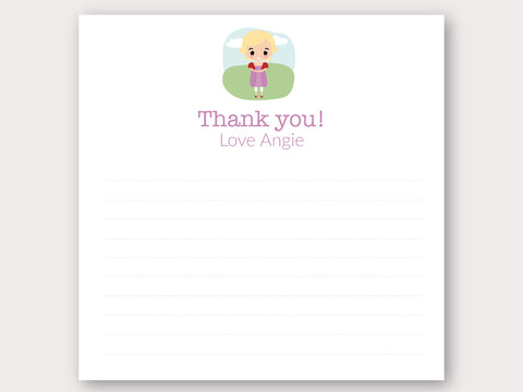 Angie Thank You Note Card