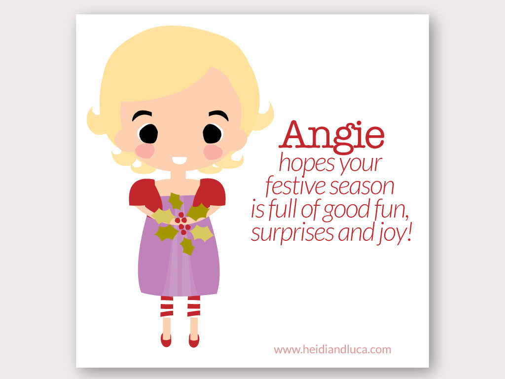 Christmas Greeting Card - Angie