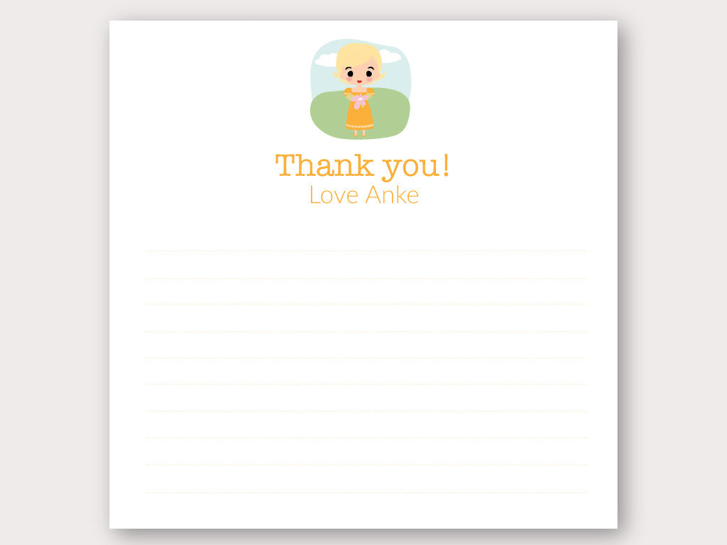 Anke Thank You Note Card