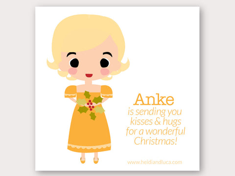 Christmas Greeting Card - Anke