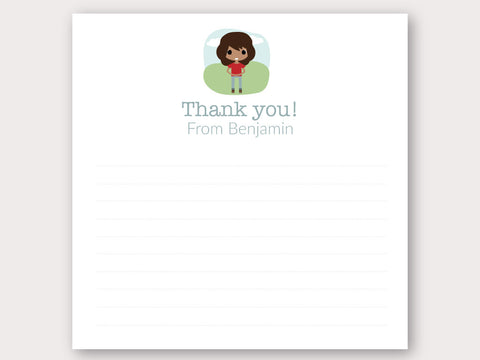 Benjamin Thank You Note Card