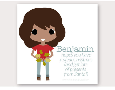 Christmas Greeting Card - Benjamin