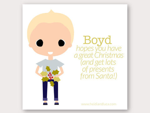 Christmas Greeting Card - Boyd