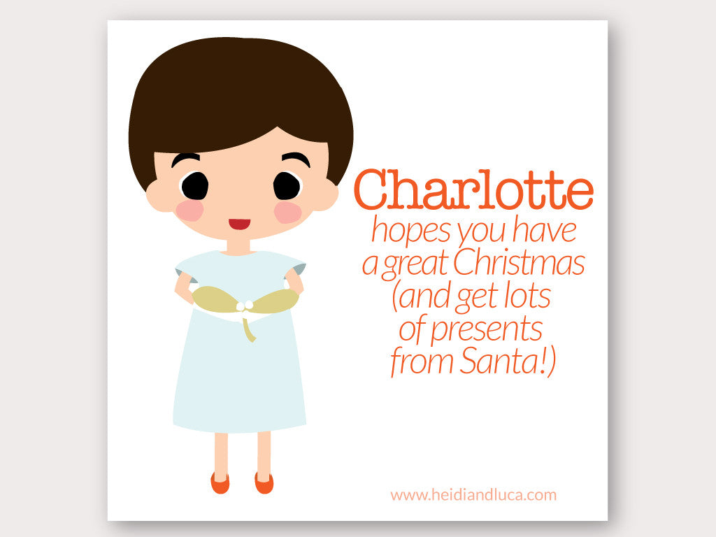 Christmas Greeting Card - Charlotte