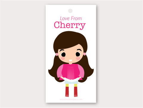Gift Tag - Cherry