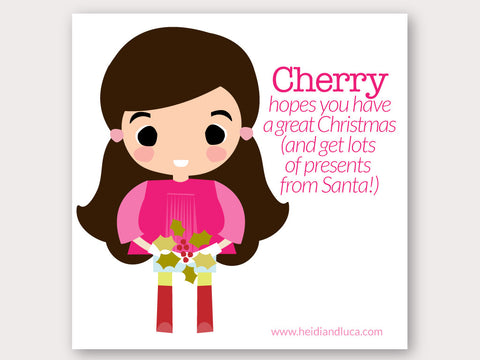 Christmas Greeting Card - Cherry