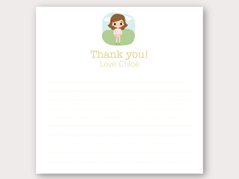 Chloe Thank You Note Card