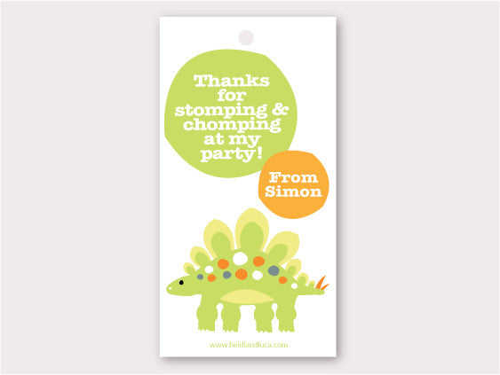Party Thank You Card - Dinosaur