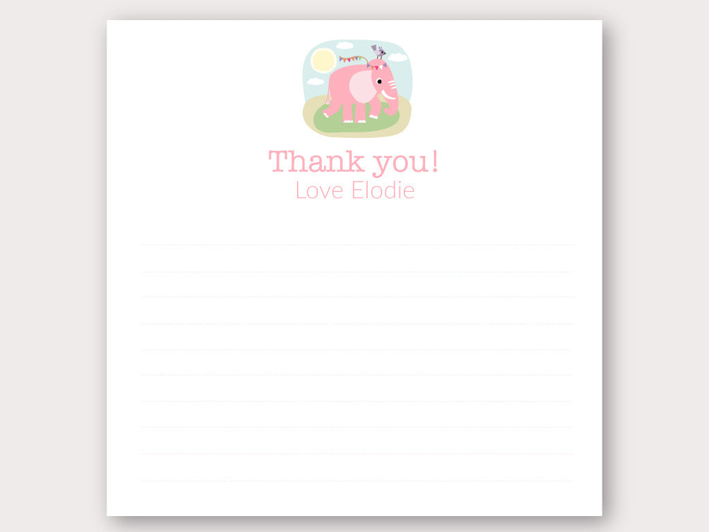 Elodie Thank You Note Card