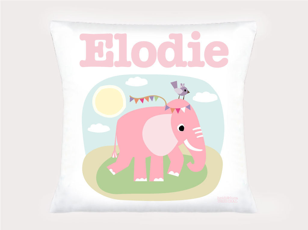 Cushion Cover - Elodie the Elephant