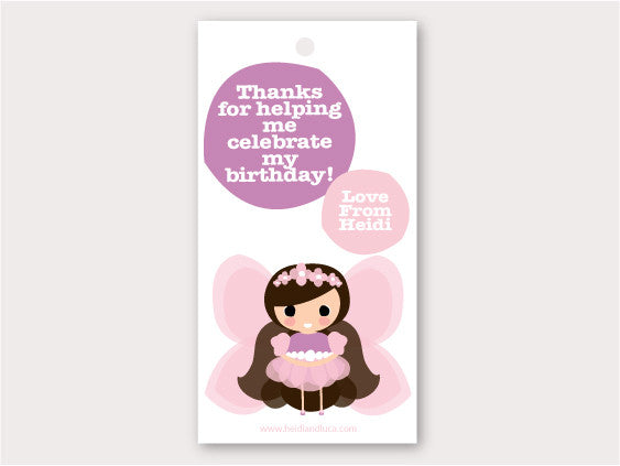 Party Thank You Card - Fairy Princess