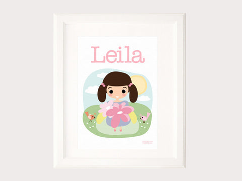 Name Print - Flower Girl