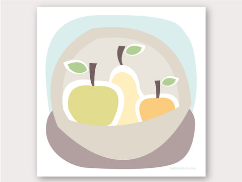 Greeting Card - Fruit Bowl