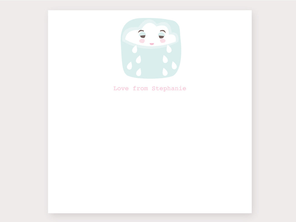 Happy Cloud Note Card