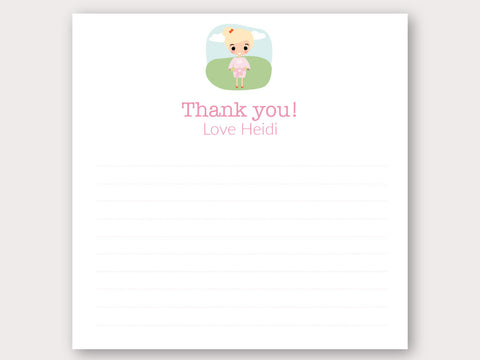 Heidi Thank You Note Card