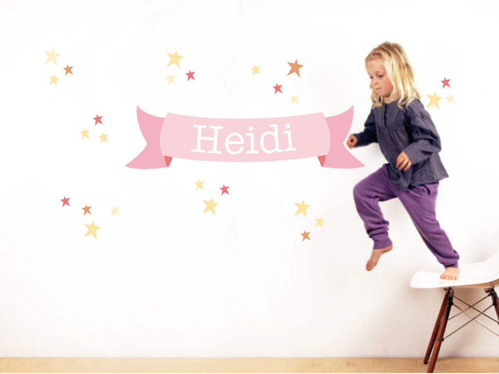 Stars for Girls Decal