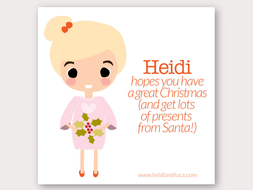 Christmas Greeting Card - Heidi