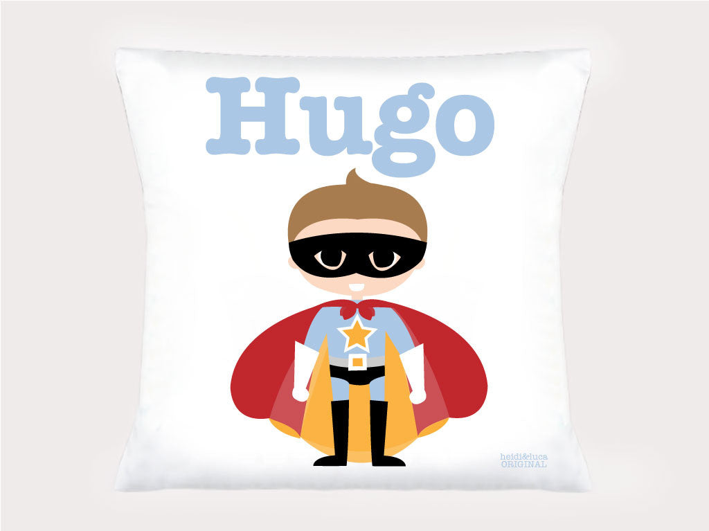 Cushion Cover - Hugo the Superhero