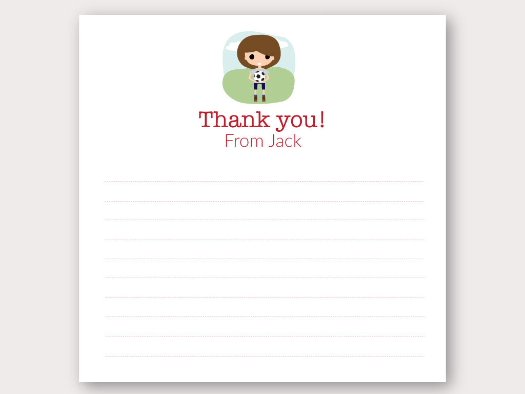 Jack Thank You Note Card