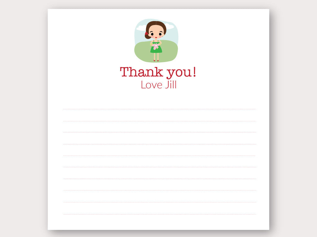 Jill Thank You Note Card