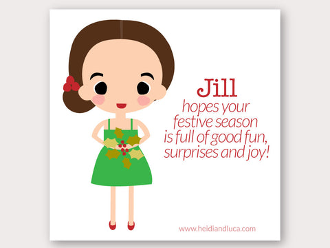 Christmas Greeting Card - Jill