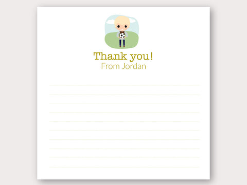 Jordan Thank You Note Card