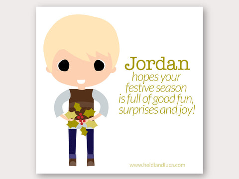 Christmas Greeting Card - Jordan