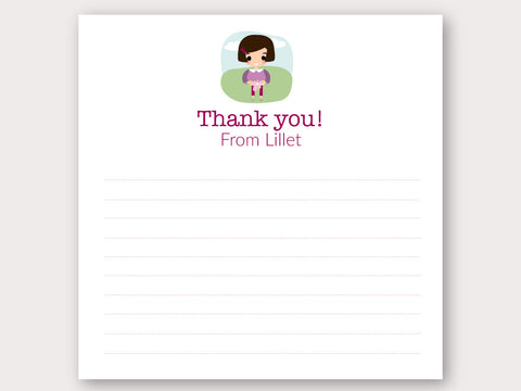 Lillet Thank You Note Card
