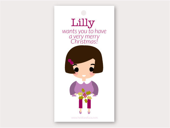 Christmas Gift Tag - Lilly