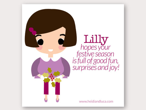 Christmas Greeting Card - Lilly
