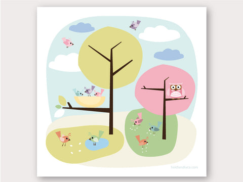 Greeting Card - Little Birdies