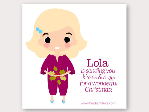 Christmas Greeting Card - Lola