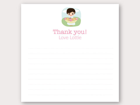 Lottie Thank You Note Card