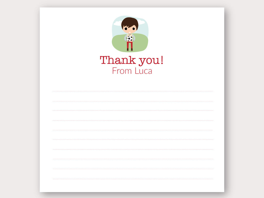 Luca Thank You Note Card