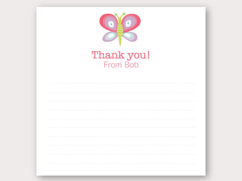 Magical Wings Thank You Note Card