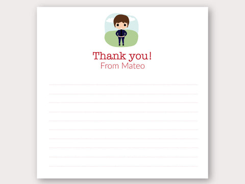 Mateo Thank You Note Card
